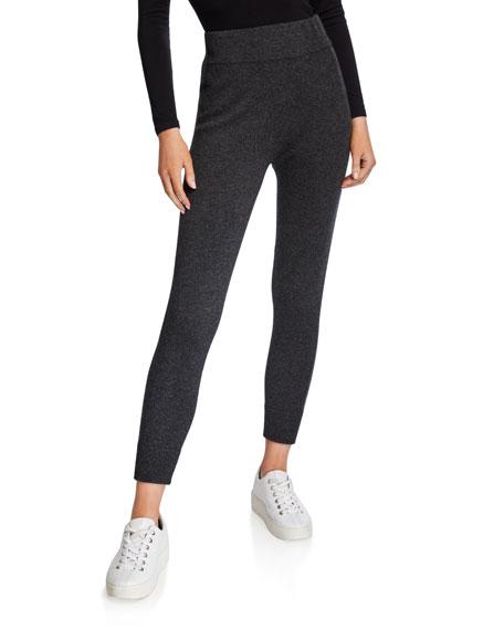 Neiman Marcus Cashmere Collection Solid Cashmere Jogger Pants