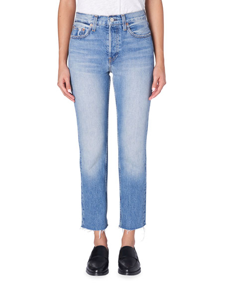 TRAVE Constance Straight-Leg Cropped Jeans