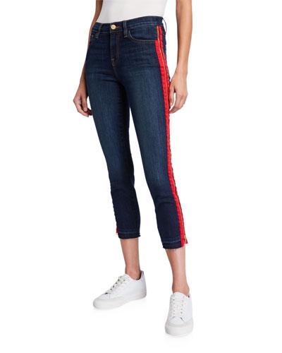 Side-Zip Cropped Skinny Jeans