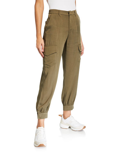 Zipper-Bottomed Relaxed Cargo Pants