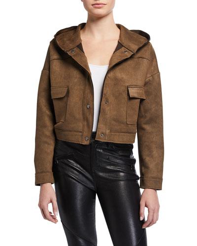 Boxy Military Hooded Jacket