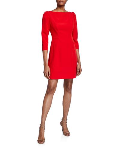 Clara Puff-Sleeve Sustainable Cady Dress
