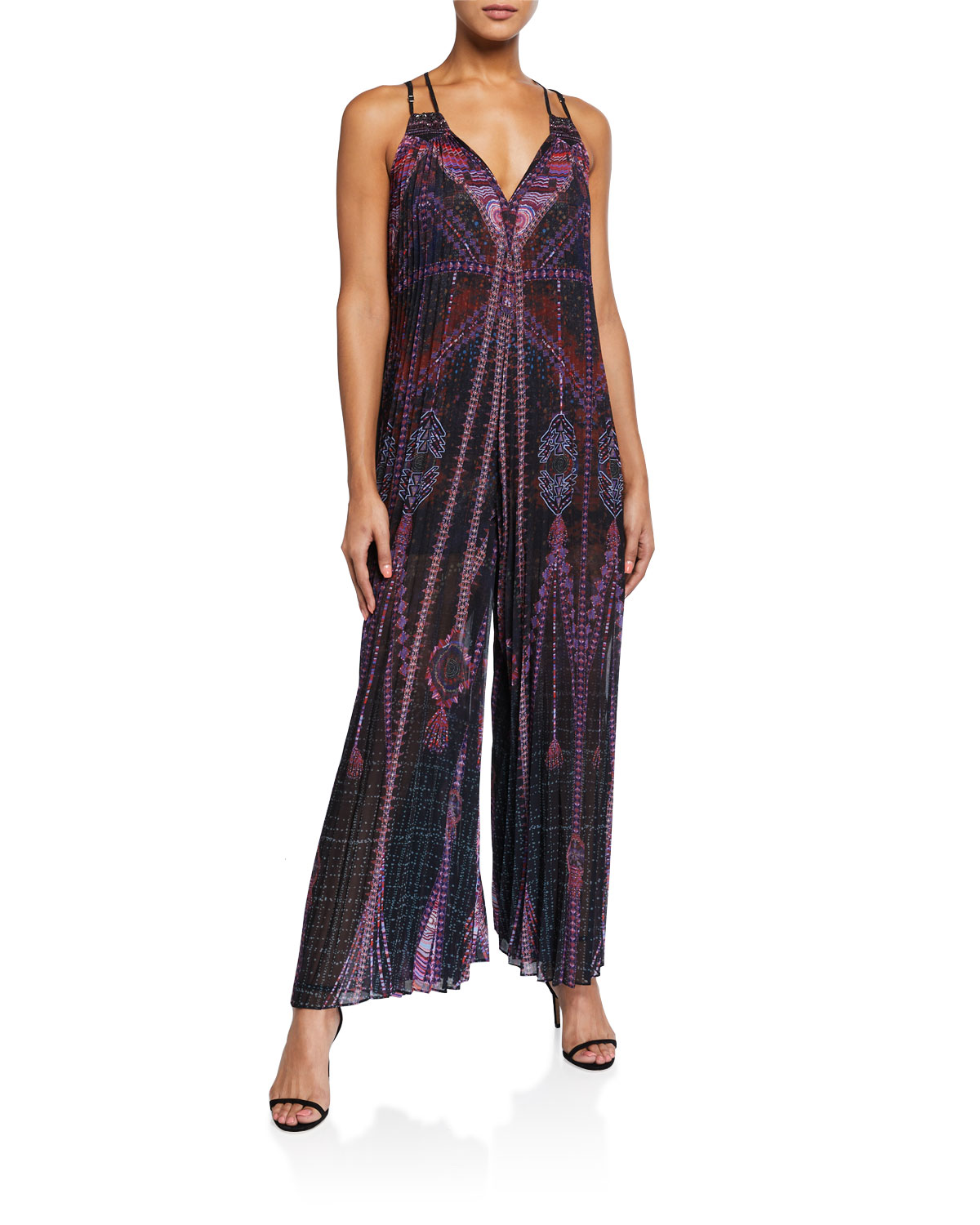 Camilla Suits PLEATED SLEEVELESS JUMPSUIT WITH YOKE