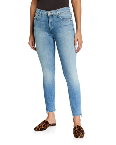 The Stunner Zip Ankle Fray Jeans