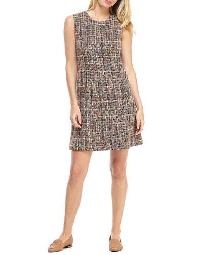 Grammercy Plaid Sleeveless A-Line Shift Dress