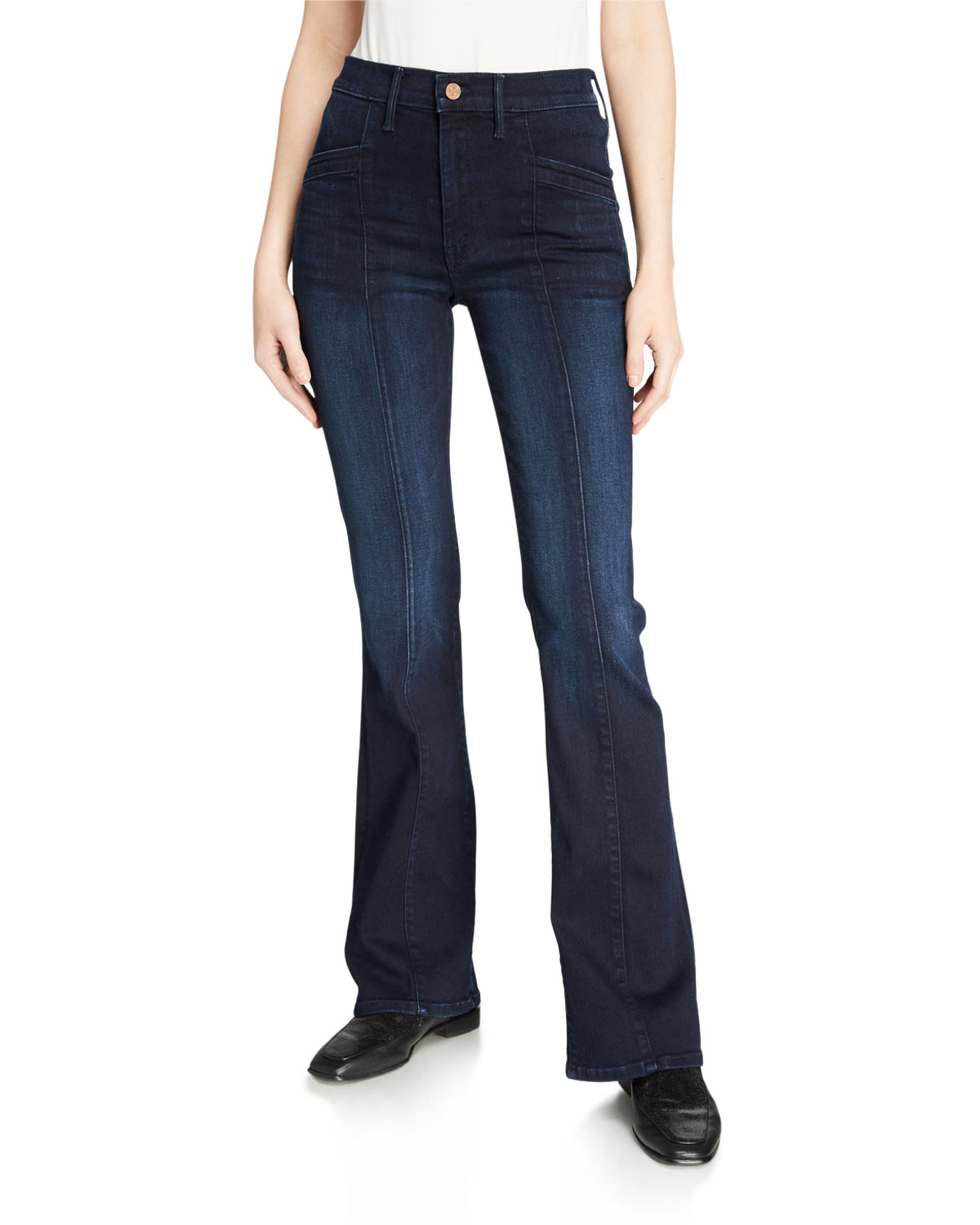 Mother Jeans THE SLANT DRAMA BOOT-CUT JEANS