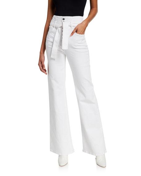 Veronica Beard Jeans Rosanna Belted Wide-Leg Jeans