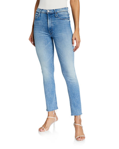 The Mid Rise Dazzler Ankle Fray Jeans