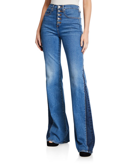 Veronica Beard Jeans Kiley High-Rise Wide-Leg Jeans