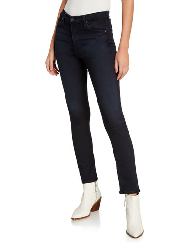 Mari High-Rise Slim Straight Jeans