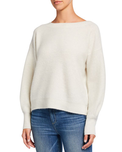 Boiled Cashmere Boat-Neck Sweater