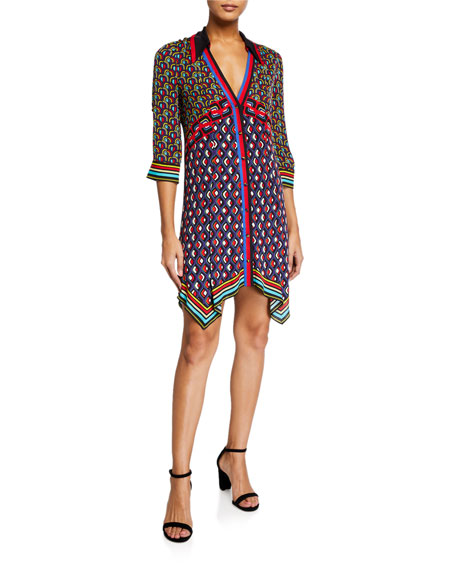 Alice + Olivia Conner Handkerchief Shirt Dress