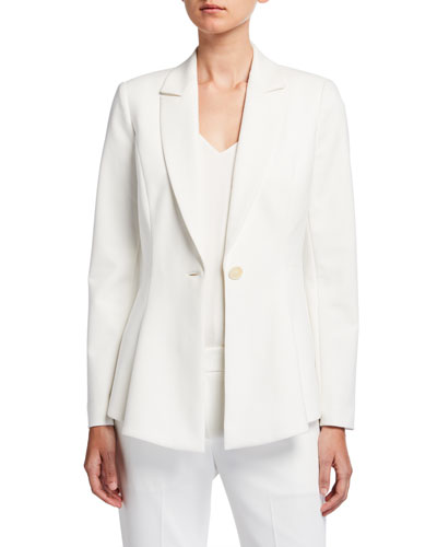Arya One-Button Crepe Jacket