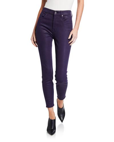 High-Rise Faux-Pocket Skinny Pants