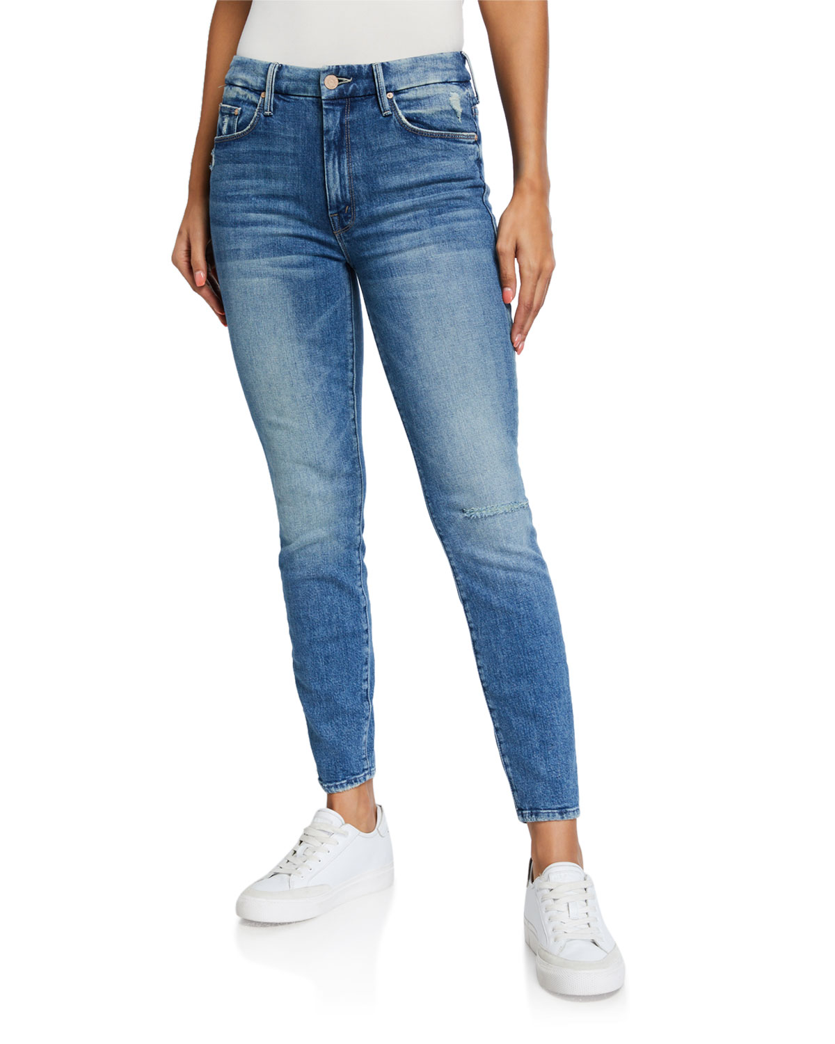 Mother Jeans LOOKER HIGH-WAISTED ANKLE JEANS