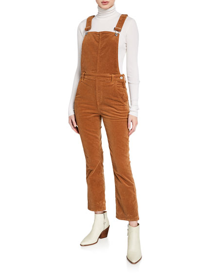 7 for all mankind Corduroy Slim-Kick Overalls