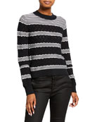 Club Monaco Striped Crewneck Sweater