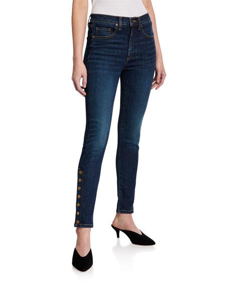 Veronica Beard Jeans Debbie High-Rise Skinny Jeans w/ Side Vents