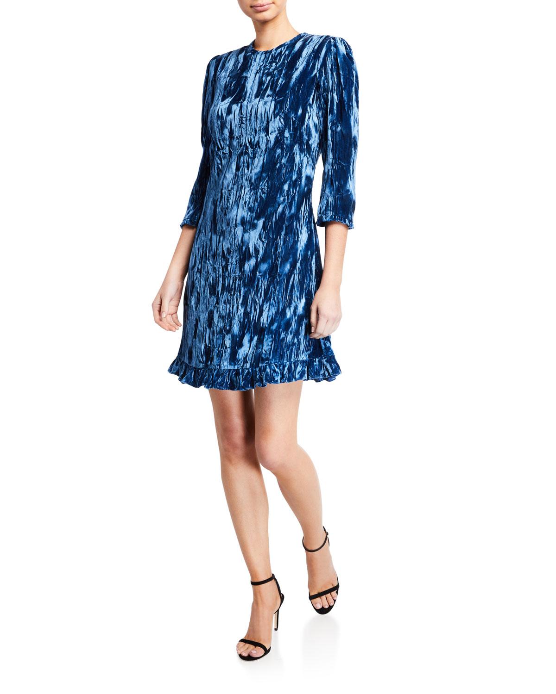 Shoshanna Dresses RULA CRUSHED VELVET SHORT DRESS