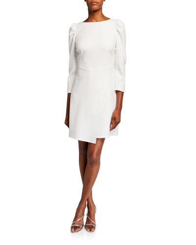 Upton 3/4-Sleeve Asymmetric Sheath Dress
