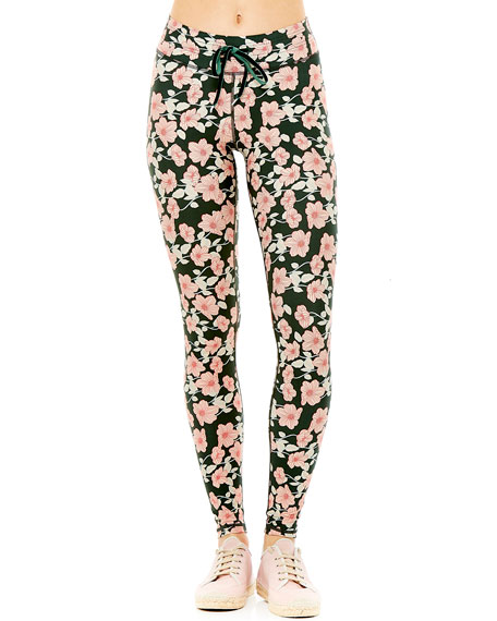 The Upside Poppy Floral-Print Yoga Leggings