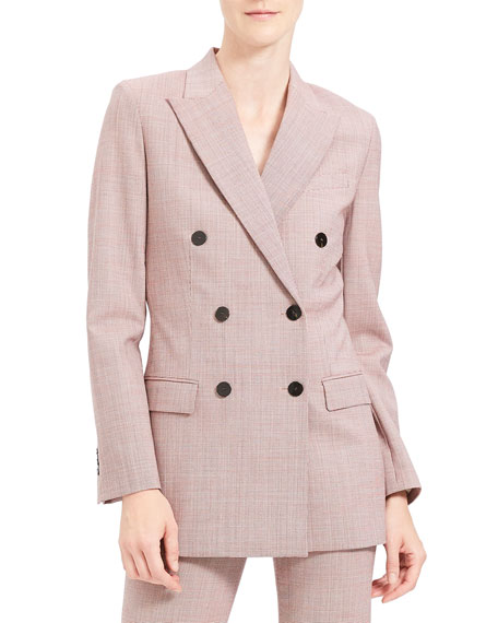 Theory Double-Breasted Tailored Blazer