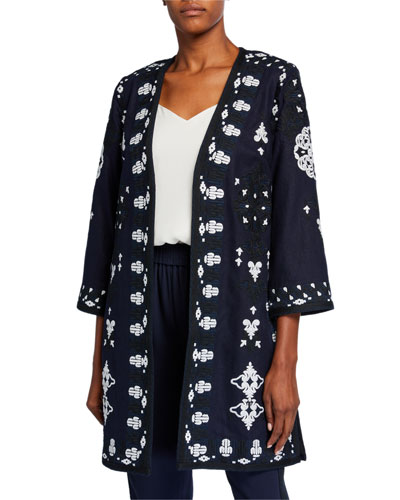 Aster Embroidered Coat