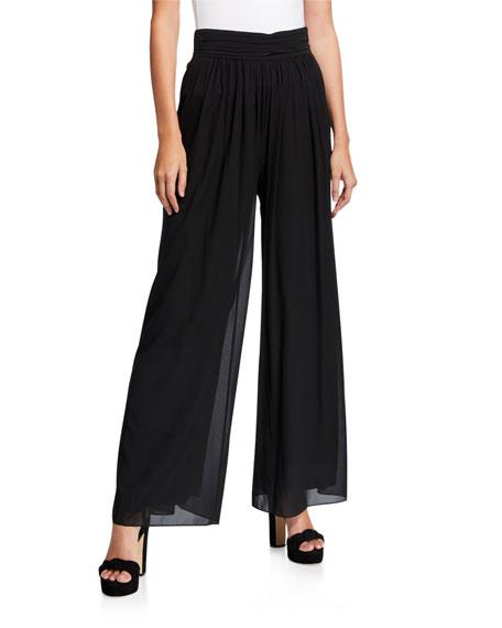 Kobi Halperin Hailey Wide Leg Silk Pants