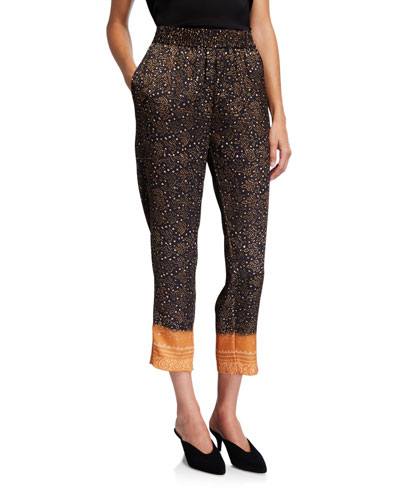 Andrea Printed Straight-Leg Pants