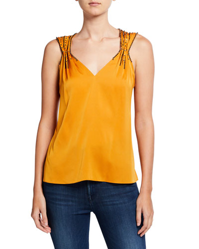 Koa Sleeveless Stud Embellished Blouse