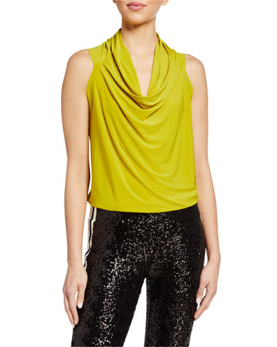 POL Clothing Women/'s Draped Neck Tank Top Cowl Neck Cami