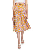 Faithfull the Brand Luda Midi Skirt