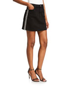 ALICE + OLIVIA JEANS Good High-Rise Mini Skirt