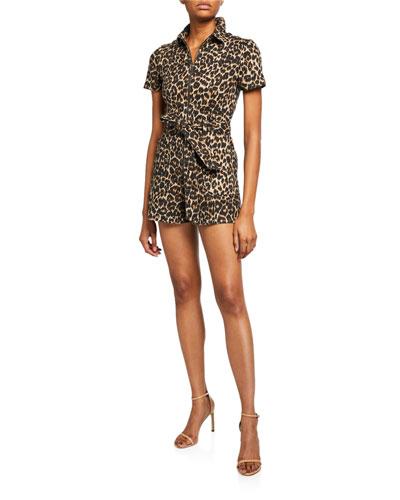Gorgeous Leopard-Print Romper