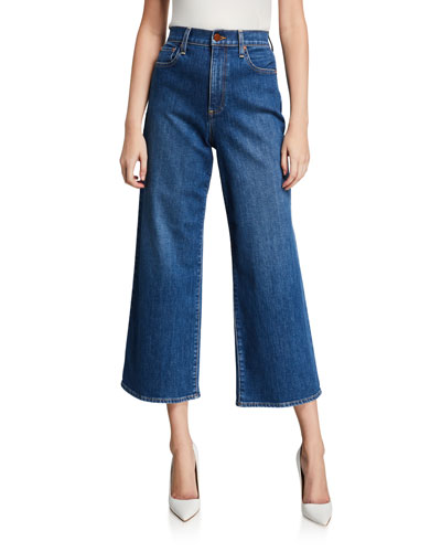 Gorgeous Cropped Wide-Leg Jeans