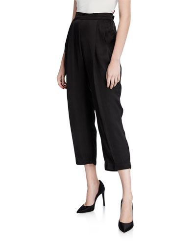 Hillary Cropped Straight-Leg Pants