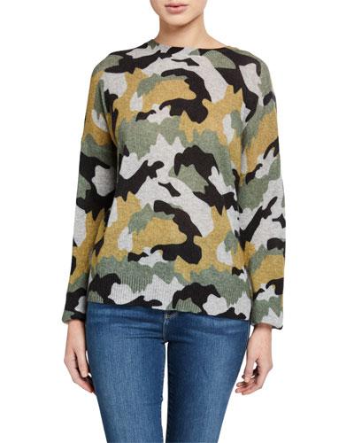 Nanette Camo-Print Cashmere Sweater
