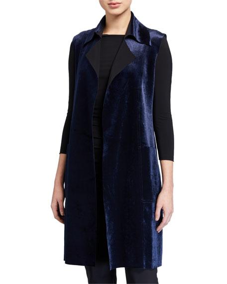 Chiara Boni La Petite Robe Hana Belted Velvet Vest