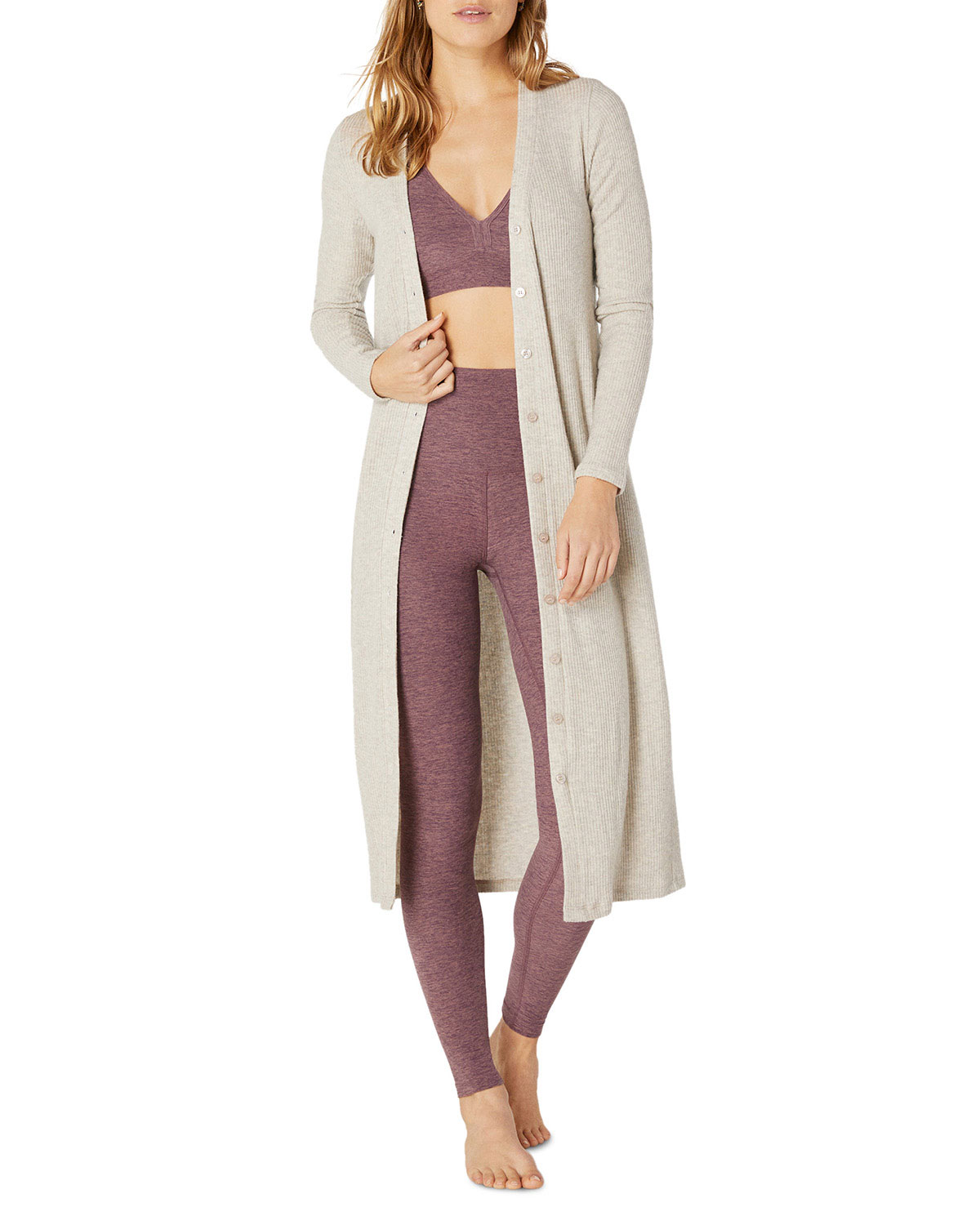 Beyond Yoga Tops YOUR LINE BUTTONED DUSTER CARDIGAN