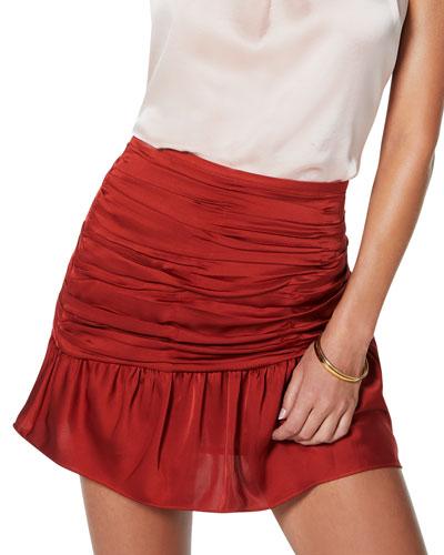 Mini Ruched Short Skirt