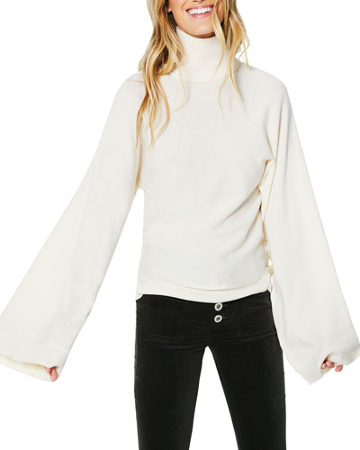 Bennett Flare-Sleeve Turtleneck Sweater
