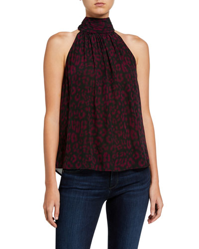 Erola Printed Halter Top