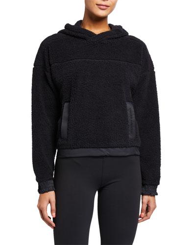 Sherpa Pullover Hoodie, Black