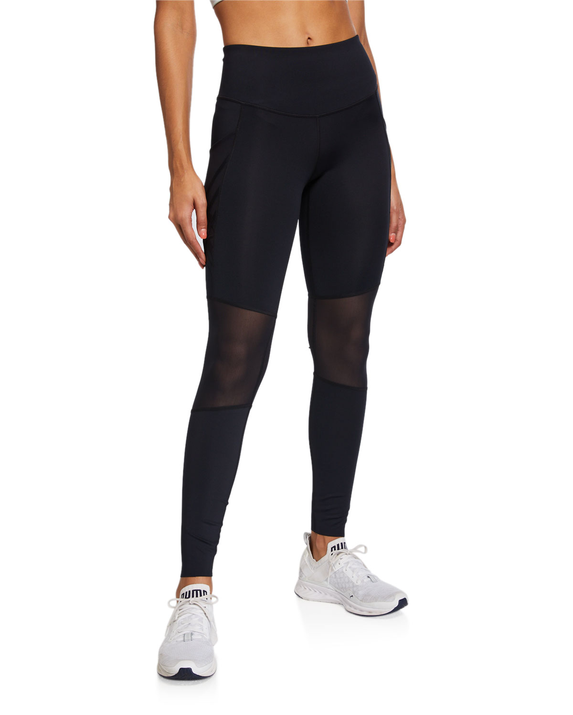 Under Armour Pants X MISTY COPELAND PANELED PERFORMANCE LEGGINGS, BLACK