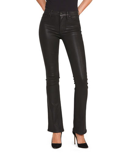 Barbara High-Rise Coated Boot-Cut Jeans