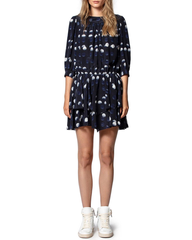 Zadig & Voltaire Dresses ROOKA DOT-PRINT SHORT DRESS
