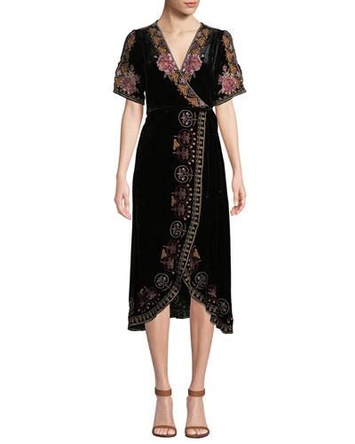 Plus Size Joanna Velvet Wrap Dress