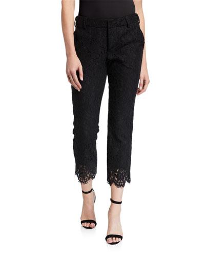 Posh Scalloped Lace Ankle Pants