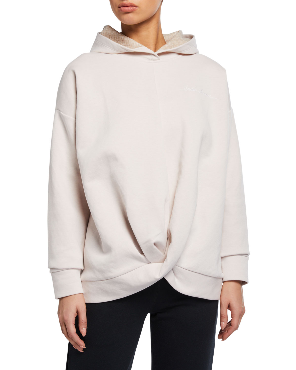 Under Armour T-shirts RECOVERY FLEECE WRAP-FRONT HOODIE SWEATSHIRT