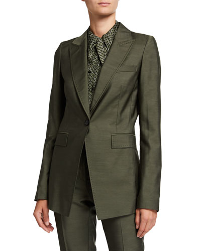 Atticus Gateway Cloth One-Button Blazer